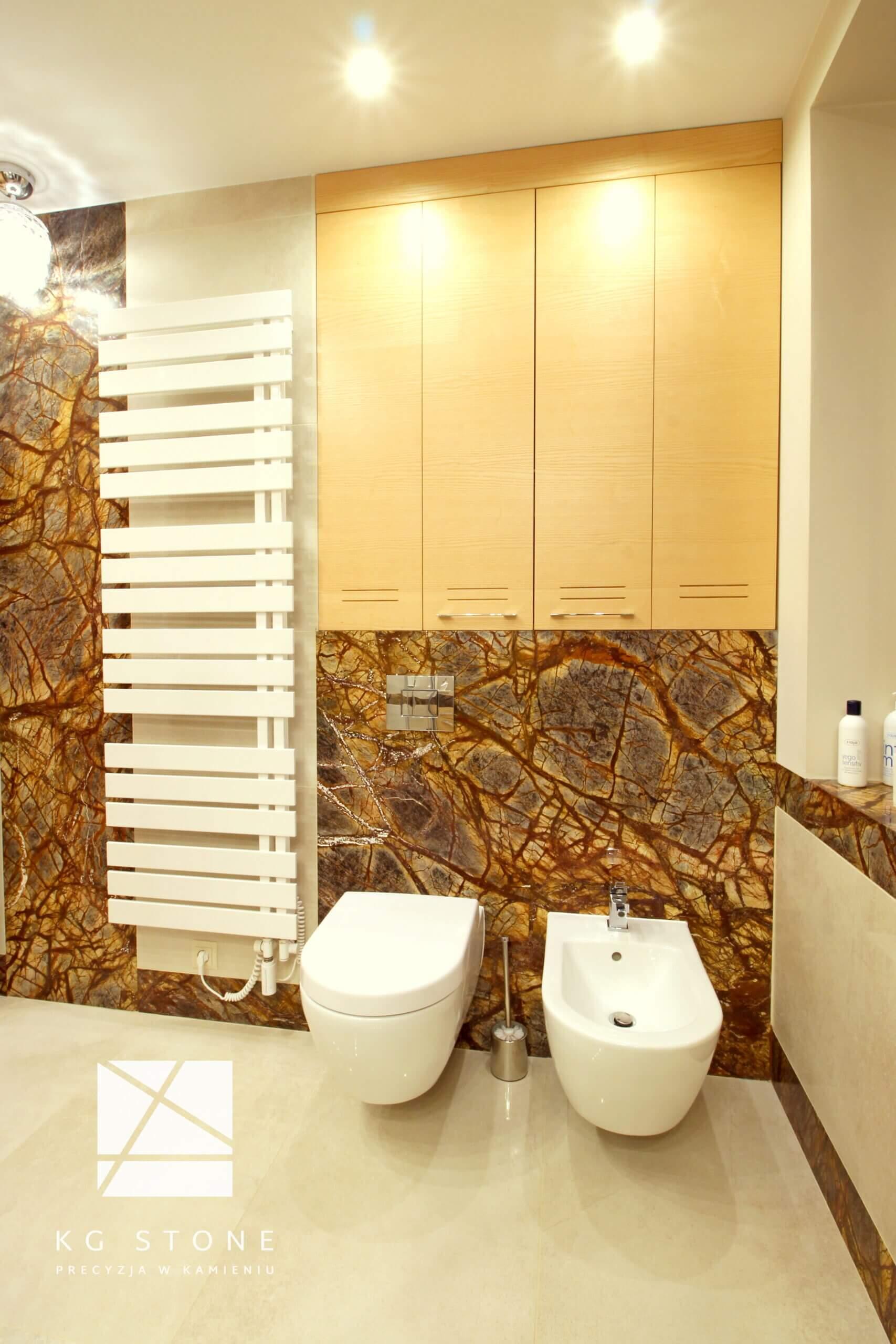 ściana z marmuru Forest Brown
