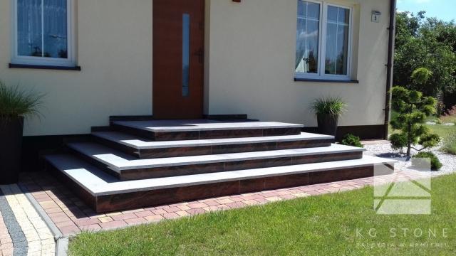 schody granitowe zewnętrzne