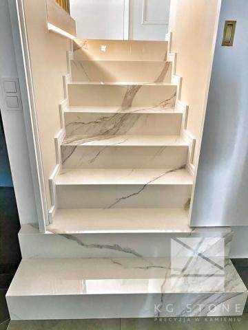 schody granitowe - spiek kwarcowy