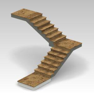 schody dwubiegowe