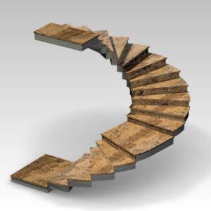 schody kręcone dwubiegowe