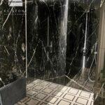 elementy łazienkowe - marmur Nero Marquina